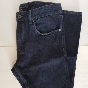 Men's blue denim